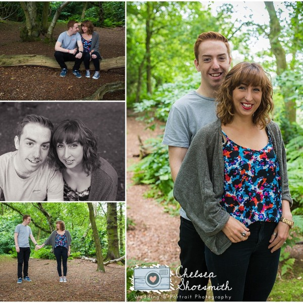Sophie & Phil Engagement Shoot - The Edge, Alderley Edge Photographer