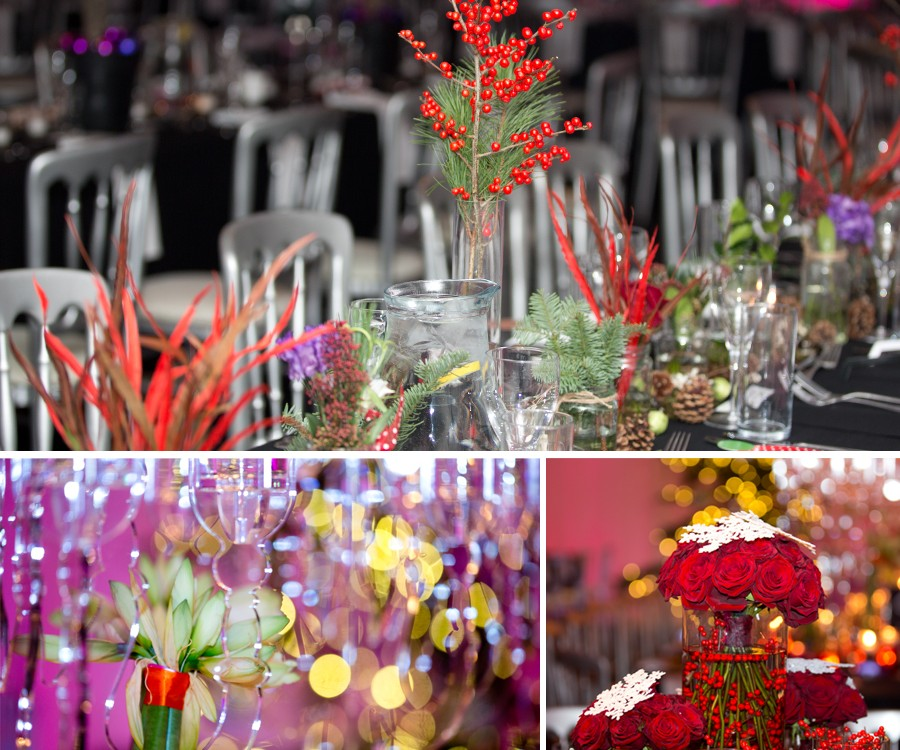 Heaton House Farm Annual Christmas Ball 2013 - Table Centers