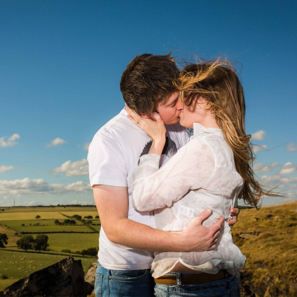 Holly & Matt Engagement Photography Shoot - Almscliff Crag