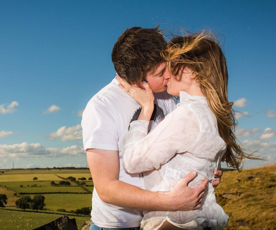 Holly & Matt Engagement Photography Shoot - Almscliff Crag