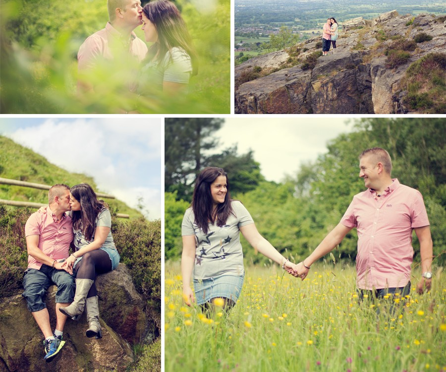 Carmel & Phil, Mow Cop Castle Engagement Shoot