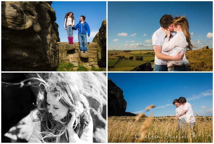 (9 of 56) Holly & Matt Engagement Photo Shoot Almscliffe Crag