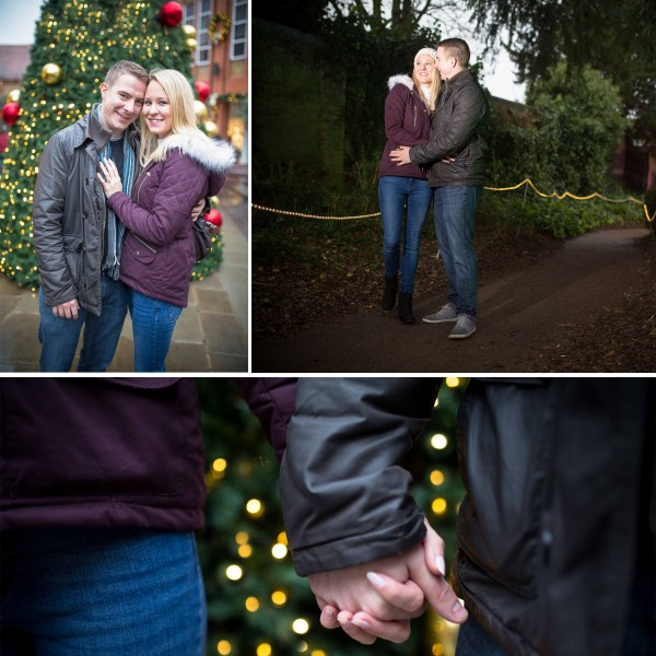 Lauren & Andy - St Albans Christmas Market Engagement Shoot