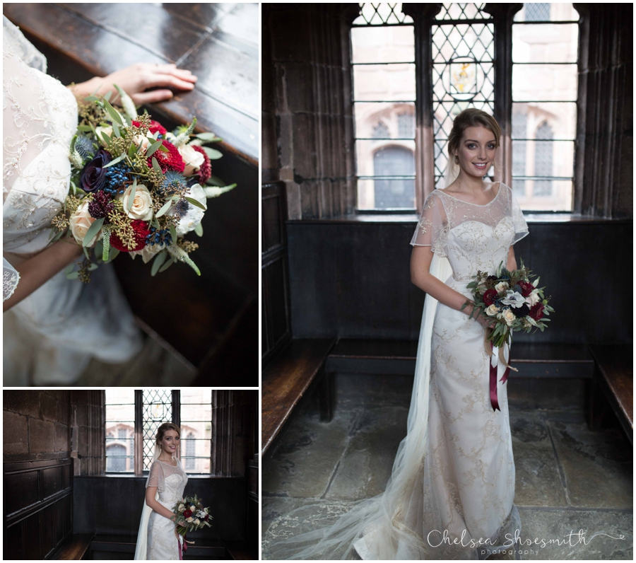 (43 of 158) Chethams Library Wedding Styled Shoot Chelea Shoesmith Photography_