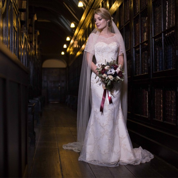 Styled Bridal Shoot - Chethams Library Manchester