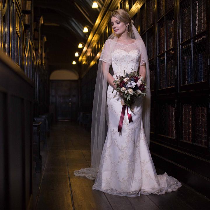 Styled Bridal Shoot - Chethams Library Manchester