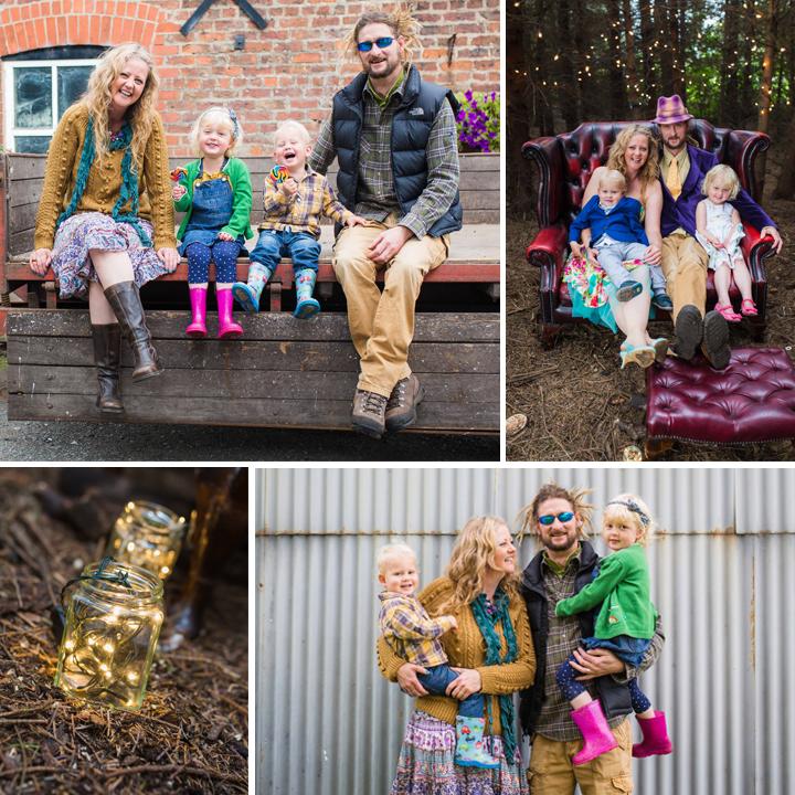 The Copsey's - Colourful Farm Family Portrait
