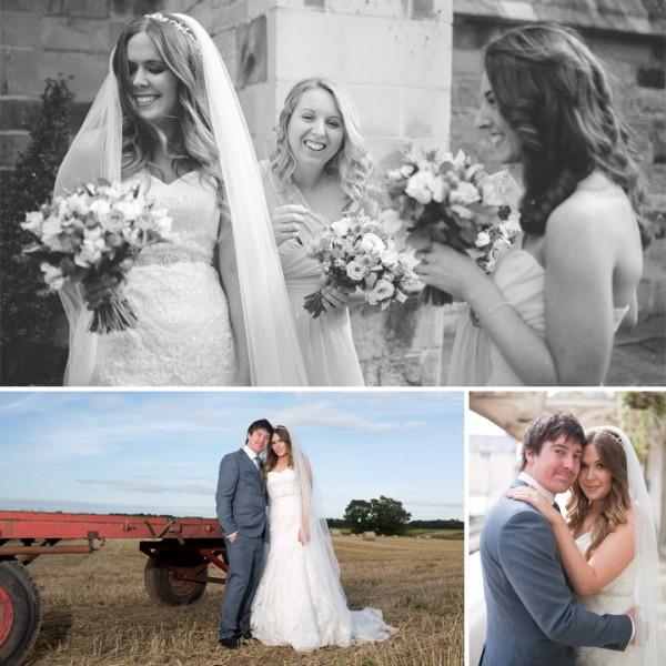 Holly & Matt Wedding photography, Castle Barn Farm Flaxby, Yorkshire
