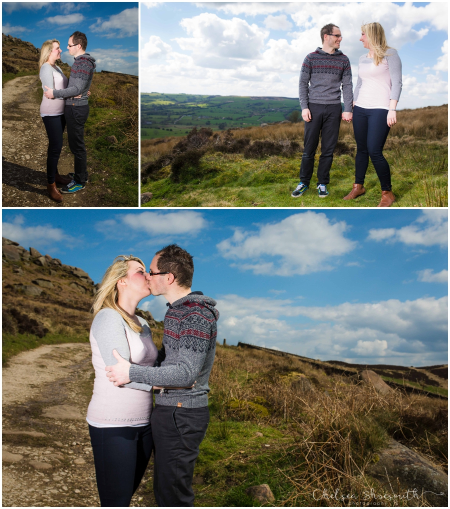 (14 of 46) Sam & Martin Spring Engagement Shoot, The Roaches, Staffordshire, Cheslea Shoesmith Photography