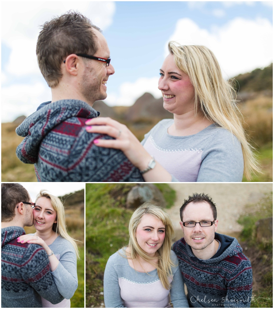 (19 of 46) Sam & Martin Spring Engagement Shoot, The Roaches, Staffordshire, Cheslea Shoesmith Photography