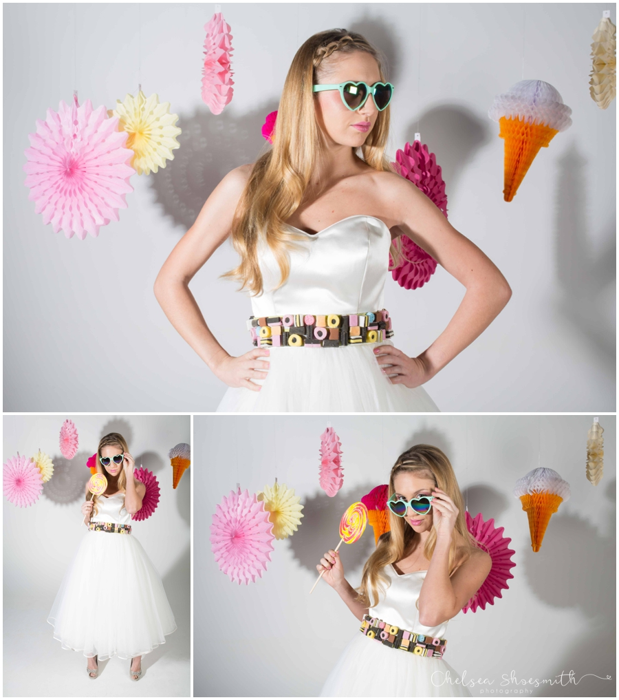 (21 of 104) Candy Sweetie Fashion Bridal Styled Shoot Pie Factory Manchester Chelsea Shoesmith Photography