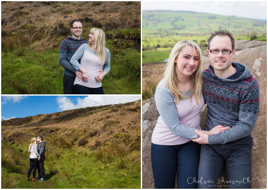 (3 of 46) Sam & Martin Spring Engagement Shoot, The Roaches, Staffordshire, Cheslea Shoesmith Photography