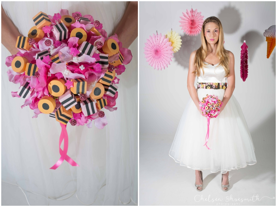 (31 of 104) Candy Sweetie Fashion Bridal Styled Shoot Pie Factory Manchester Chelsea Shoesmith Photography