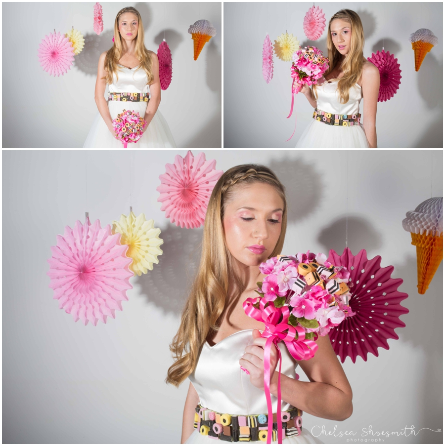 (34 of 104) Candy Sweetie Fashion Bridal Styled Shoot Pie Factory Manchester Chelsea Shoesmith Photography