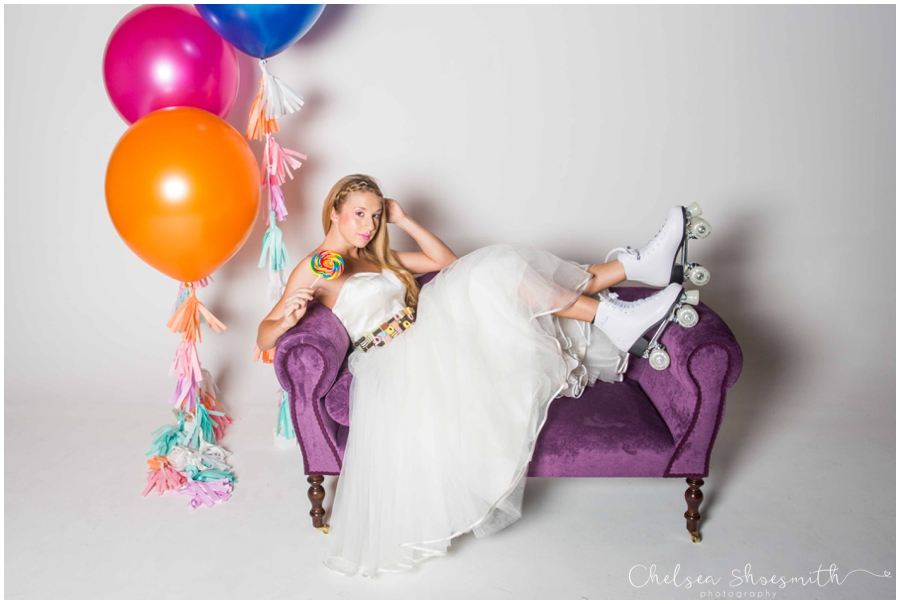 (50 of 104) Candy Sweetie Fashion Bridal Styled Shoot Pie Factory Manchester Chelsea Shoesmith Photography
