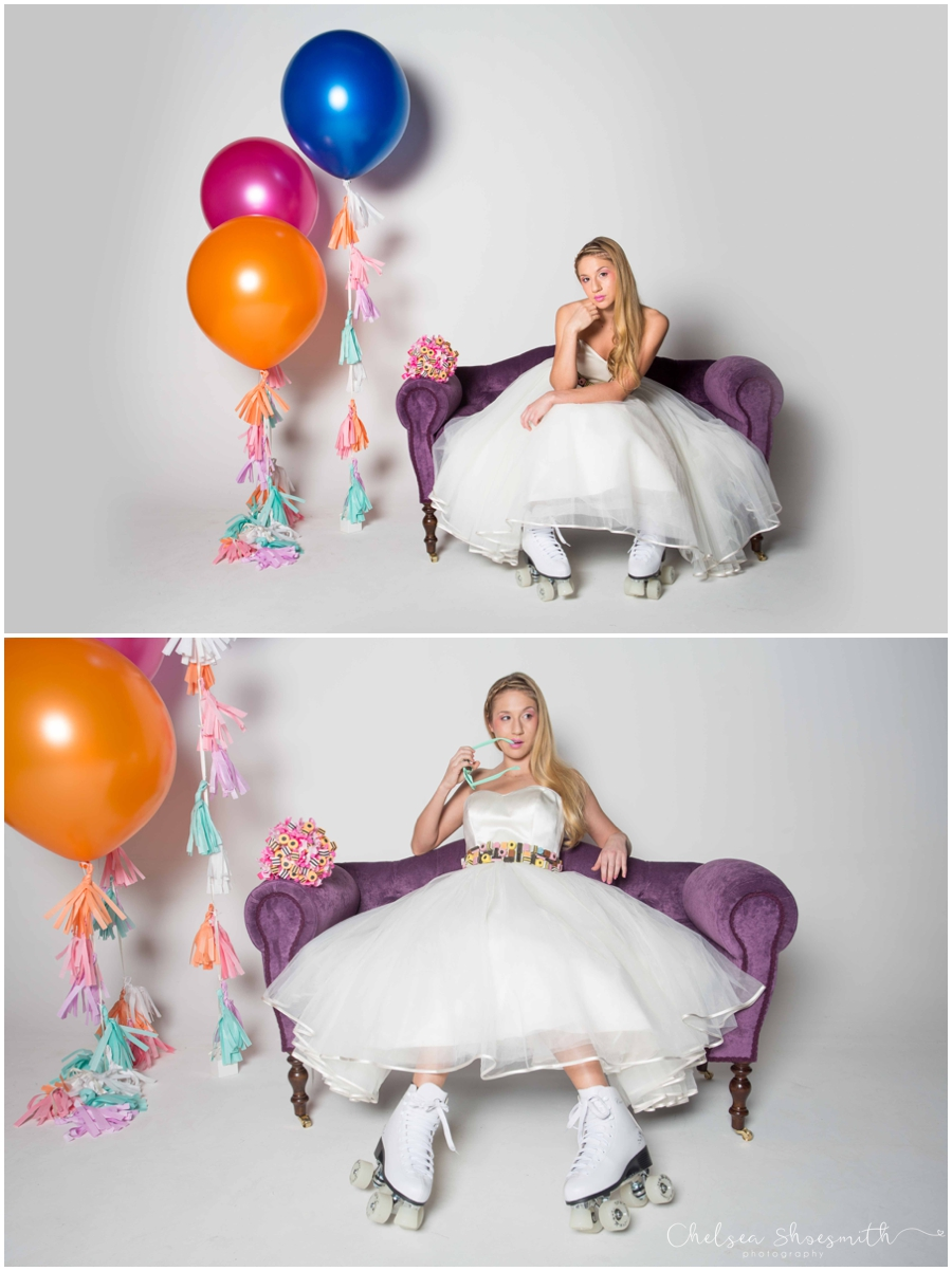 (54 of 104) Candy Sweetie Fashion Bridal Styled Shoot Pie Factory Manchester Chelsea Shoesmith Photography