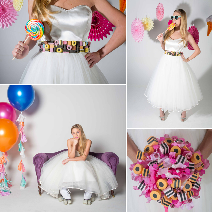 Candy Themed Wedding Styled Shoot - Asylum Studios, Manchester