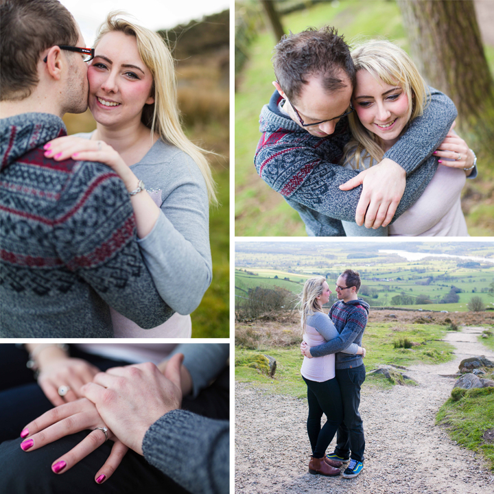 Sam & Martin Engagement Shoot At The Roaches, Staffordshire