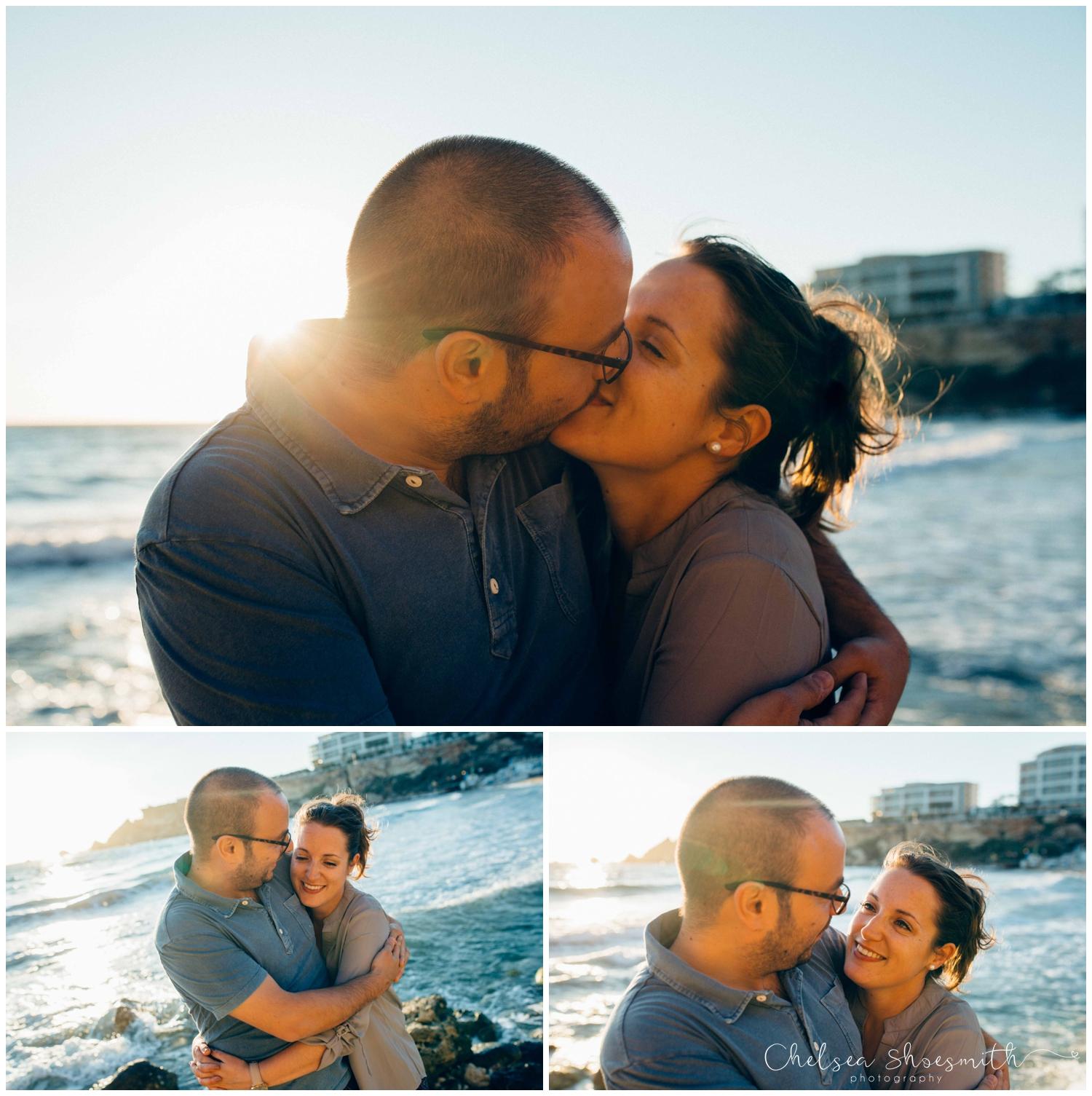(16 of 54) Alison & Dom Couple Shoot Golden Bay Mellieha Malta Chelsea Shoesmith Destination Wedding Photography