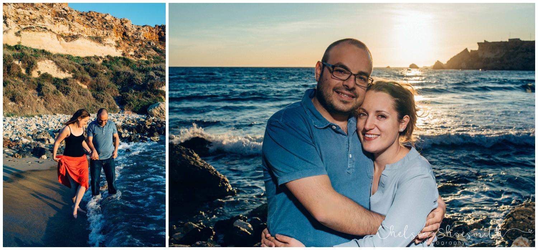 (21 of 54) Alison & Dom Couple Shoot Golden Bay Mellieha Malta Chelsea Shoesmith Destination Wedding Photography