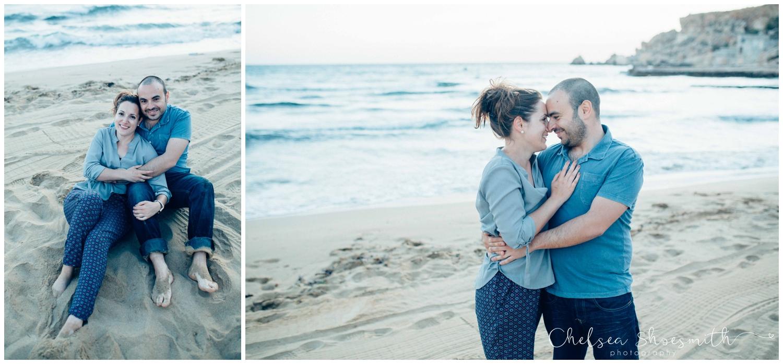 (51 of 54) Alison & Dom Couple Shoot Golden Bay Mellieha Malta Chelsea Shoesmith Destination Wedding Photography