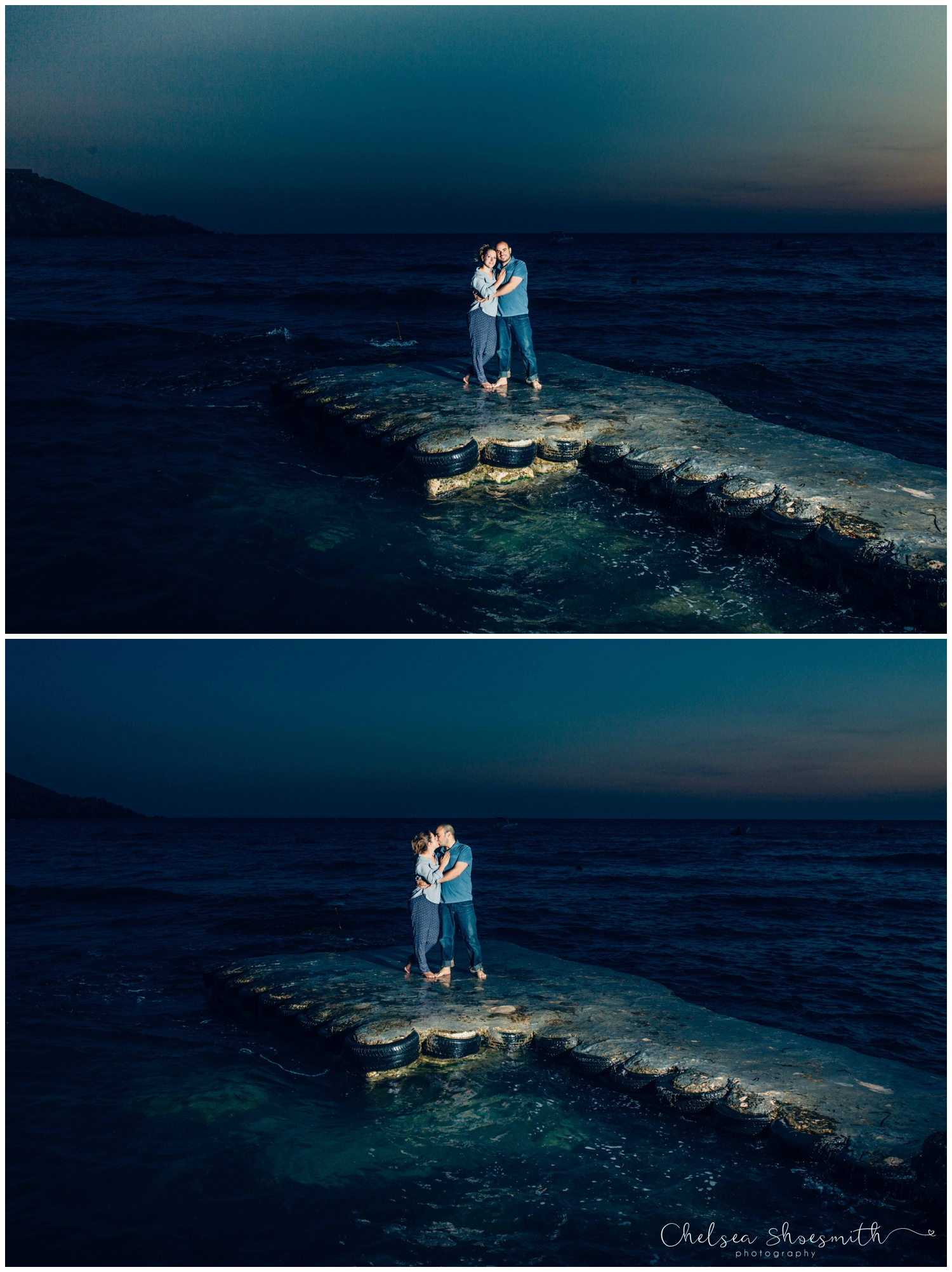 (53 of 54) Alison & Dom Couple Shoot Golden Bay Mellieha Malta Chelsea Shoesmith Destination Wedding Photography