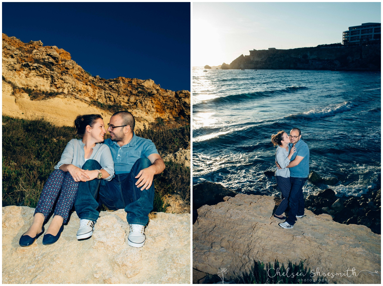 (7 of 54) Alison & Dom Couple Shoot Golden Bay Mellieha Malta Chelsea Shoesmith Destination Wedding Photography