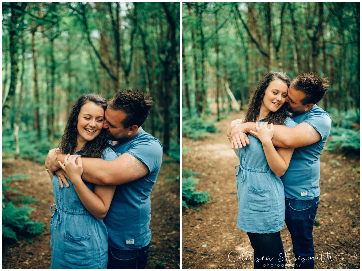 (52 of 75) Bethan & Peter Engagement Shoot Cheshire, Delamere Forest Chelsea Shoesmith Photography