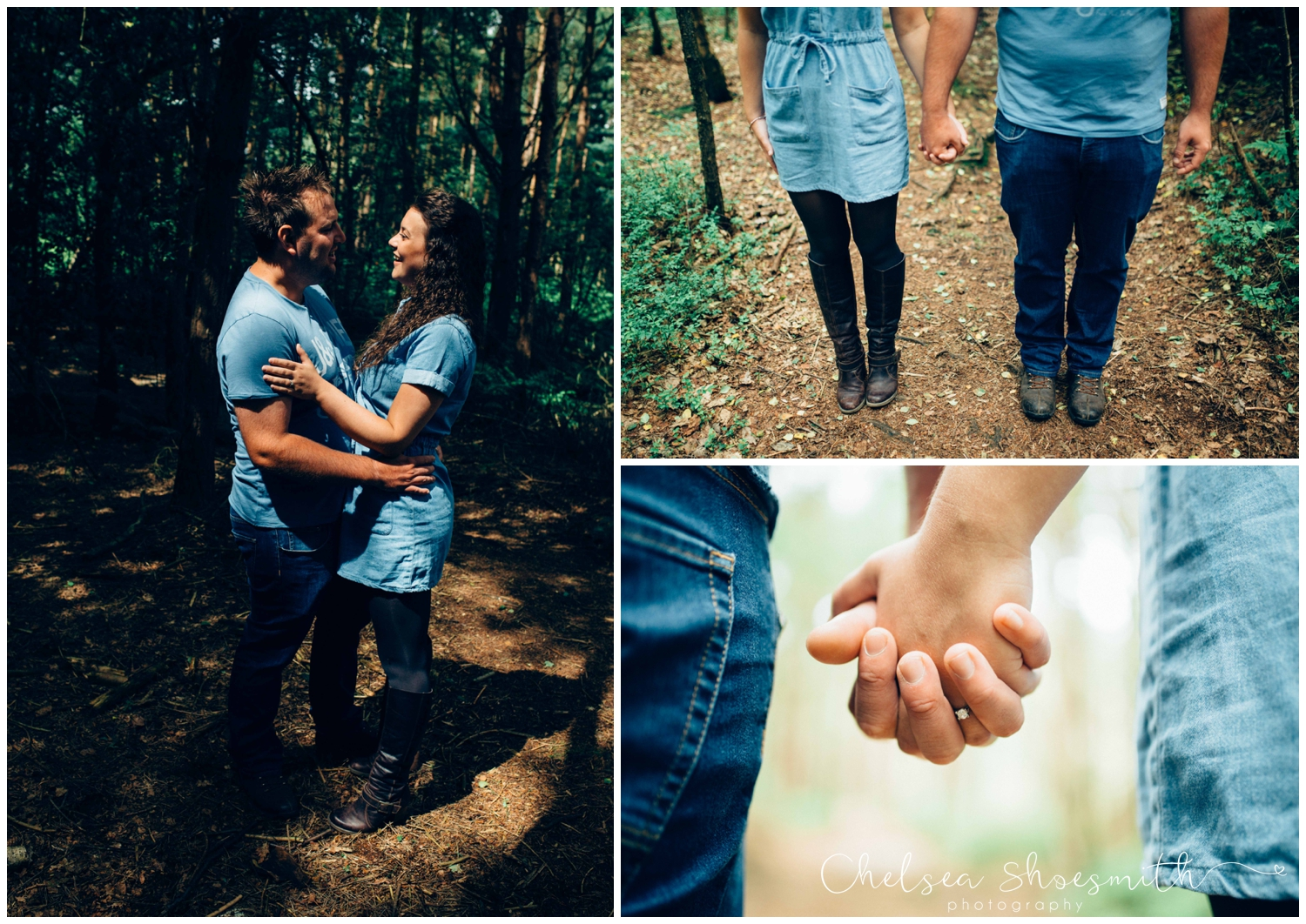 (57 of 75) Bethan & Peter Engagement Shoot Cheshire, Delamere Forest Chelsea Shoesmith Photography