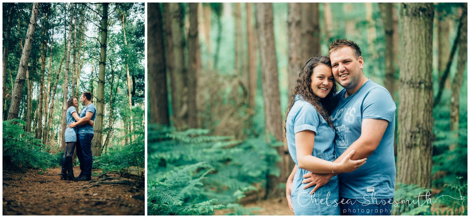 (62 of 75) Bethan & Peter Engagement Shoot Cheshire, Delamere Forest Chelsea Shoesmith Photography