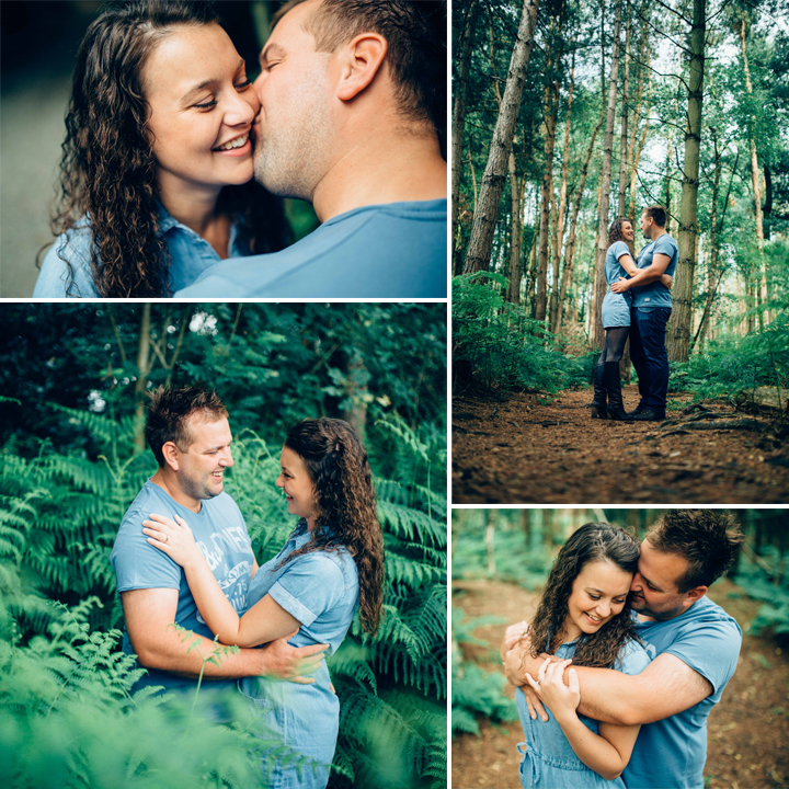 Bethan & Peter Woodland Engagement Shoot, Delamere Forest -  Cheshire