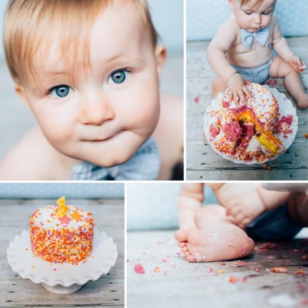 Teddy's First Birthday Cake Smash - Stockport, Cheshire