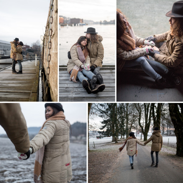 Norwegian Winter Couple Shoot - Fauziah & André, Norway