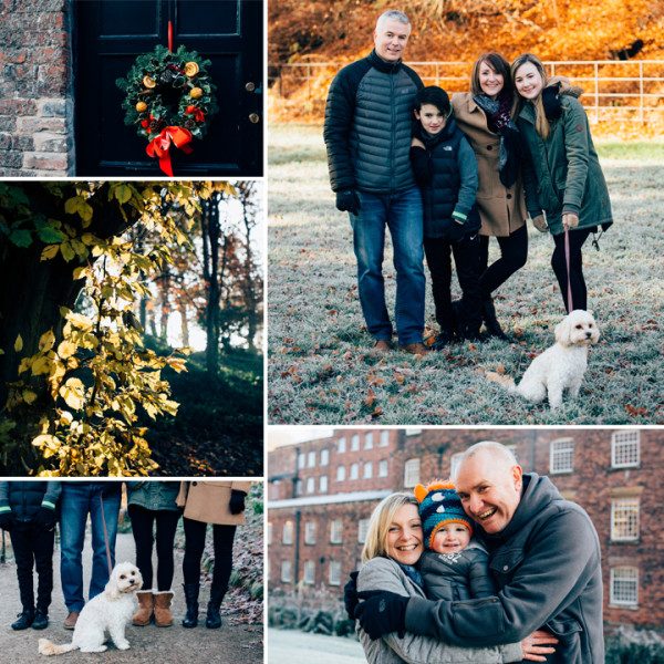 Winter Family Portrait At Quarry Bank Mill, Cheshire