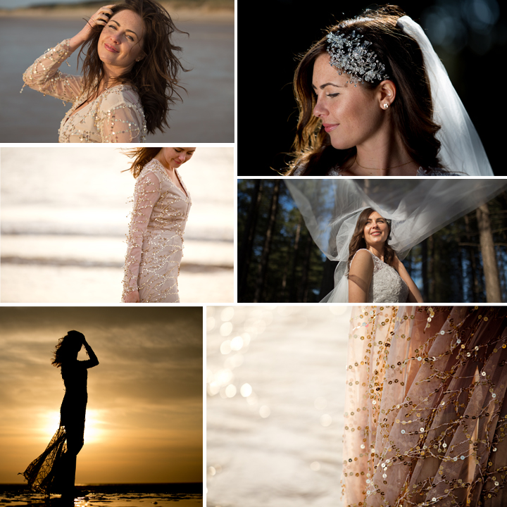 Formby Beach Sunset Wedding Shoot