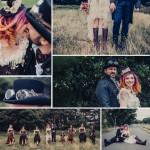 Steampunk themed wedding photography