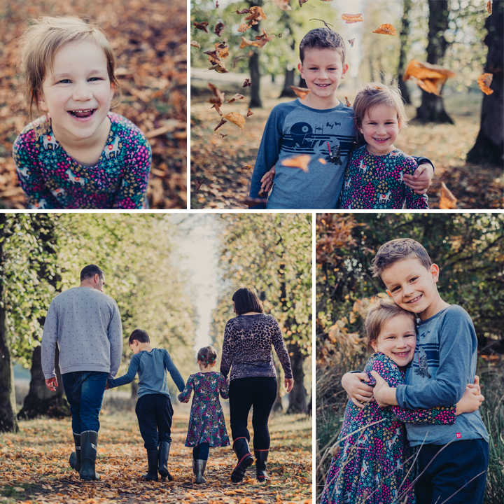 Autumn Family Portrait Photo Shoot - Lyme Park