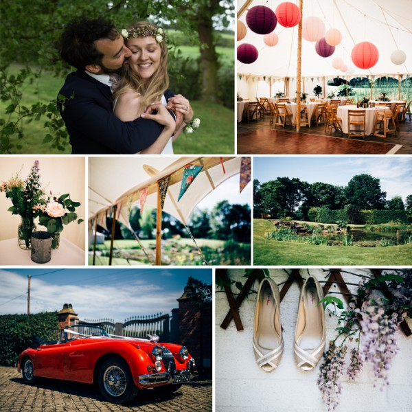 Verena & Alex - Cheshire garden party wedding