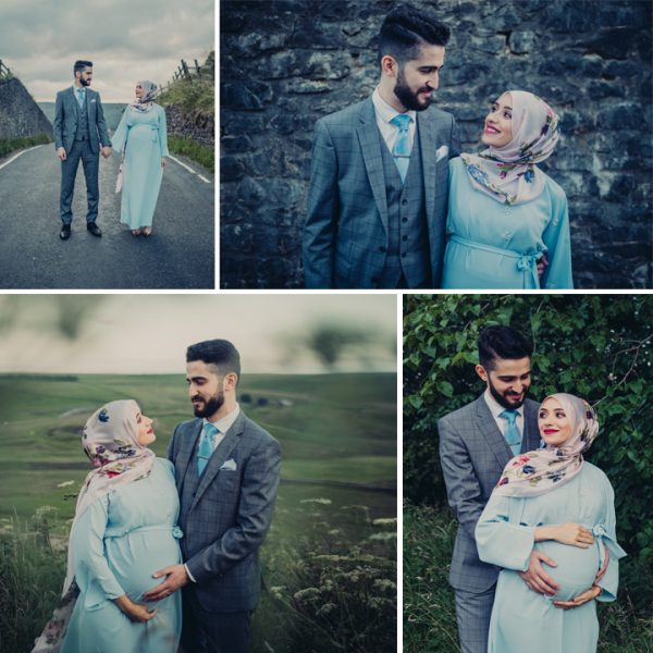 Salima & Mohammed - Maternity shoot on Mam Tor, Peak District