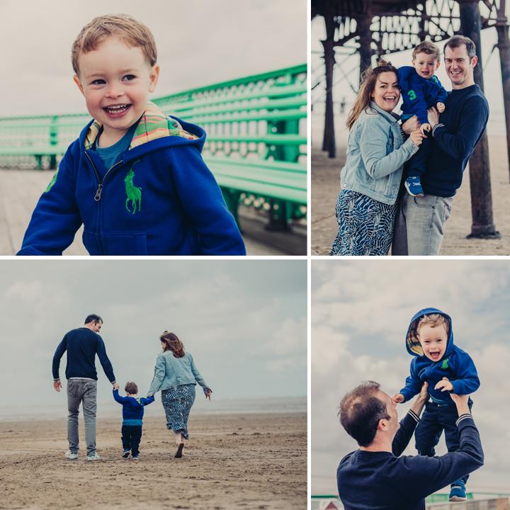 Lytham St Annes  Beach Family Portrait